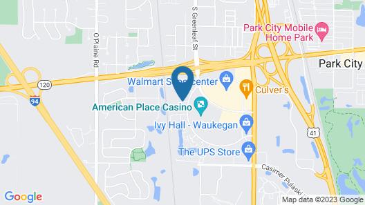 Hampton Inn & Suites Chicago Waukegan Map