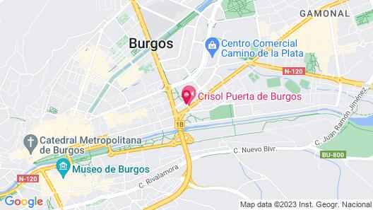 Hotel Puerta de Burgos Map