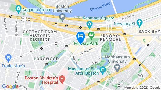 Residence Inn by Marriott Boston Back Bay/Fenway Map