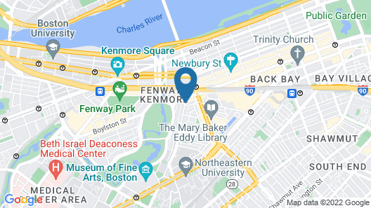 Boston Fenway Inn by FOUND Map
