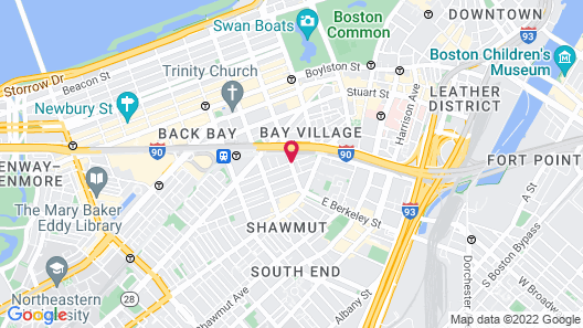Staypineapple, A Delightful Hotel, South End Map