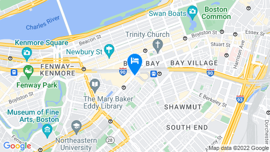 Boston Marriott Copley Place Map