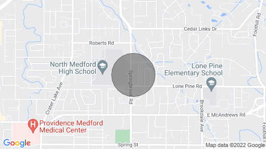 Great, Clean House in the Middle of Medford Map