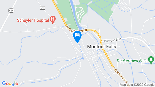 The Falls Motel Map