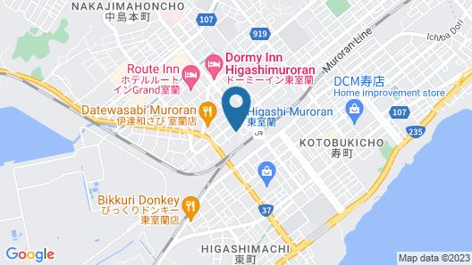 Hotel Route-Inn Higashimuroran Ekimae Map