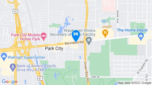 Red Roof Inn Gurnee - Waukegan Map