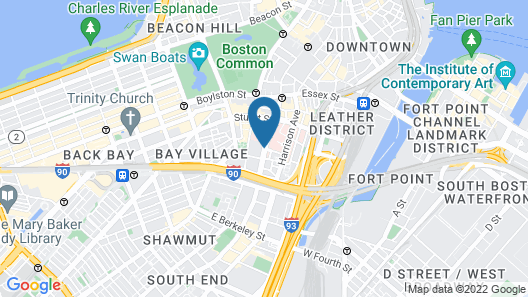 DoubleTree by Hilton Boston - Downtown Map