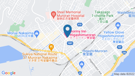 Dormy Inn Higashimuroran Natural Hot Spring Map