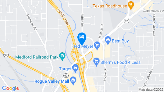 Rogue Regency Inn and Suites Map