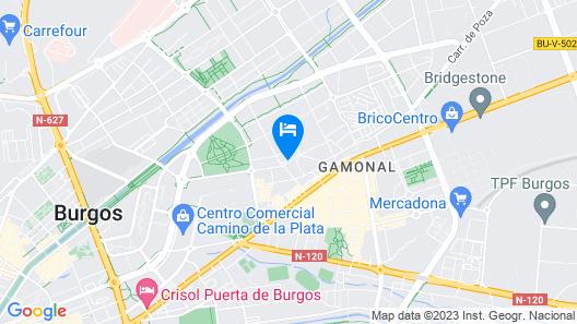 Los Braseros Hotel Map