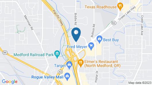 Motel 6 Medford, OR - North Map