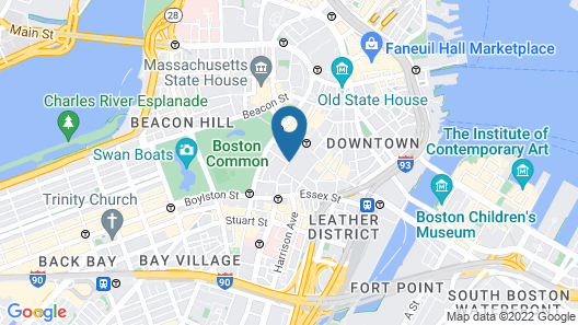 The Godfrey Hotel Boston Map