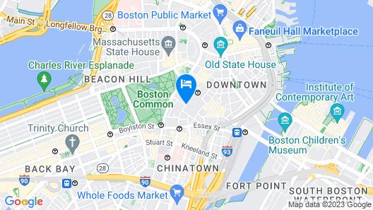 The Godfrey Hotel Boston Map