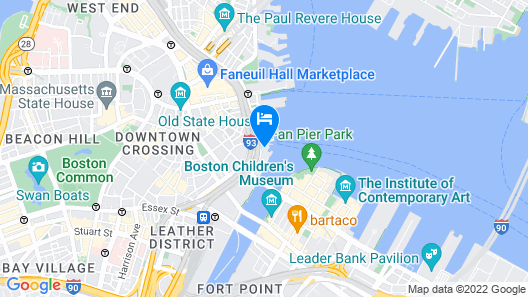 Boston Harbor Hotel Map