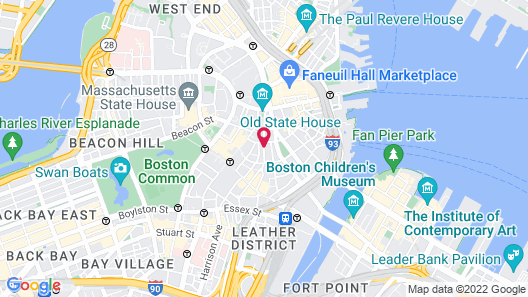 Club Quarters Hotel in Boston Map