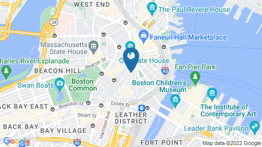 Club Quarters Hotel in Boston Map