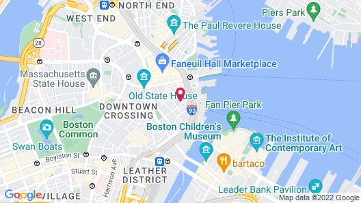 Hilton Boston Downtown/Faneuil Hall Map