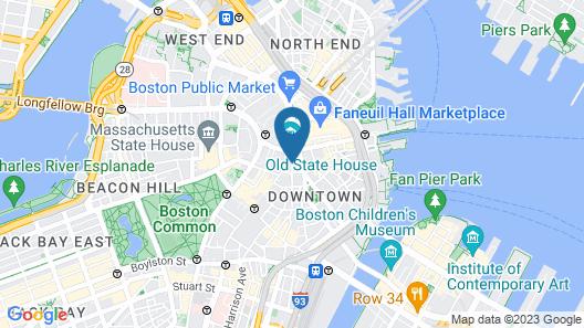 Hyatt Centric Faneuil Hall Boston Map