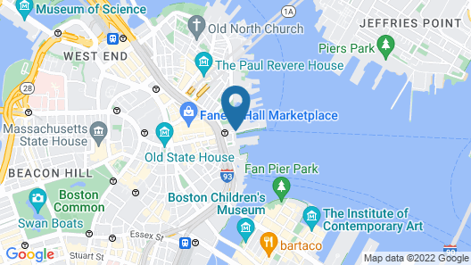 Boston Marriott Long Wharf Map