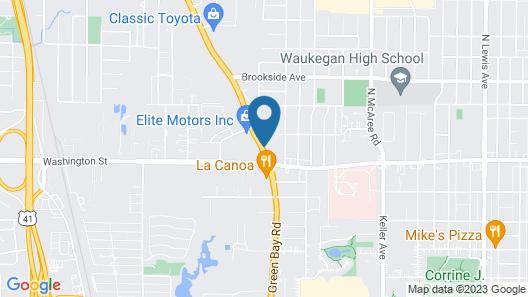 Motel 6 Waukegan, IL Map