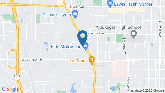 Ramada by Wyndham Waukegan/great Lakes Map