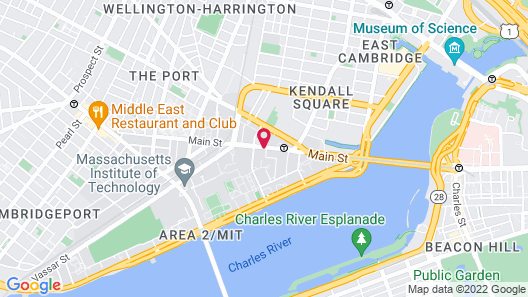 The Kendall Hotel Map