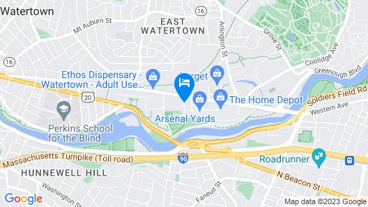 Hampton Inn & Suites Watertown Boston, MA Map