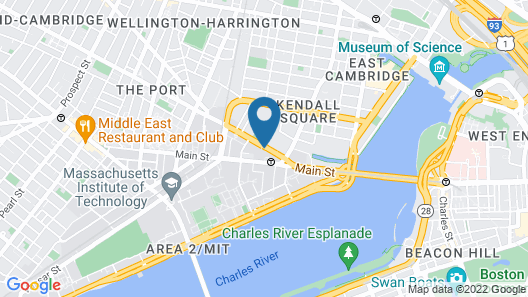 Boston Marriott Cambridge Map