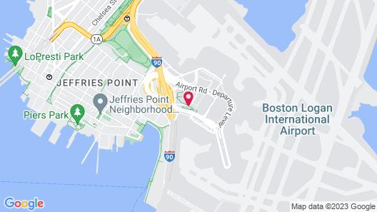 Hilton Boston Logan Airport Map