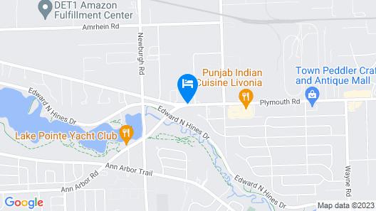 Days Inn by Wyndham Livonia - Detroit Map