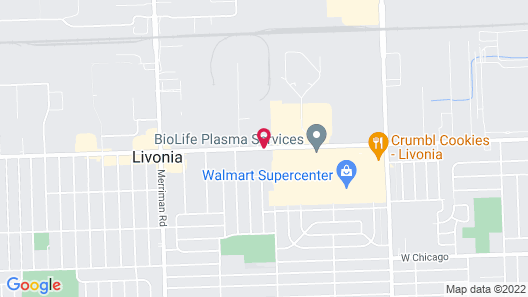 Quality Inn and Suites Livonia Map