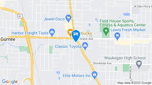 Rodeway Inn Waukegan - Gurnee Map
