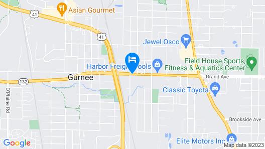 Gurnee Motel Map
