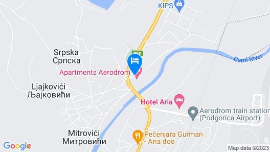 Apartments Aerodrom Map