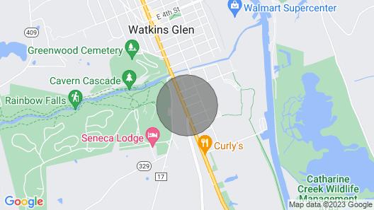 New! Historic Family Lodge in Watkins Glen Village Map