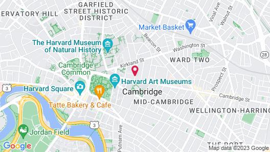 Irving House At Harvard Map