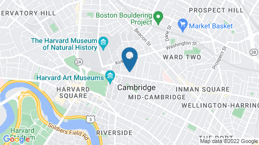 Irving House At Harvard Map
