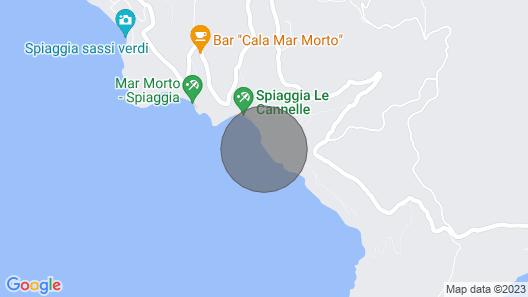 Seafront Garden Villa in Argentario Map