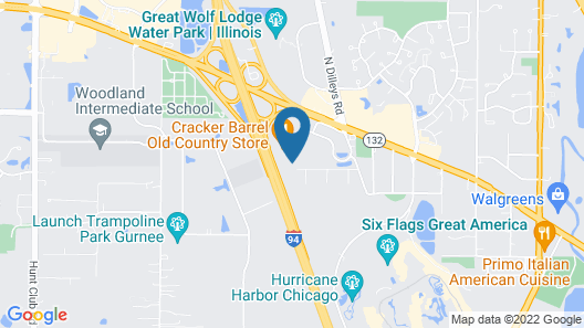 Extended Stay America Chicago - Gurnee Map