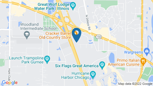 Extended Stay America Suites Chicago Gurnee Map