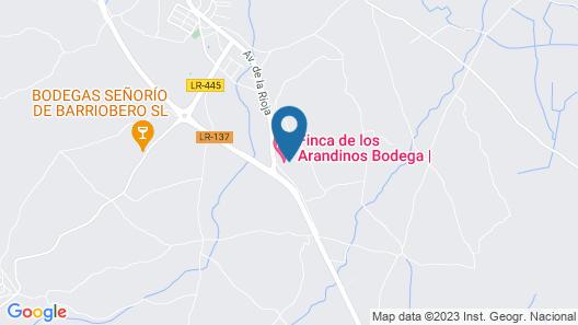 Hotel-Bodega Finca de Los Arandinos Map