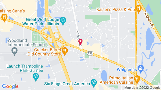 Hampton Inn Chicago - Gurnee Map