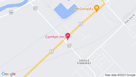 Comfort Inn Chatham Map