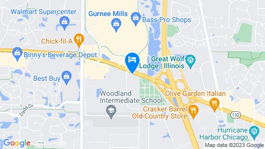 Holiday Inn Gurnee Convention Center, an IHG Hotel Map
