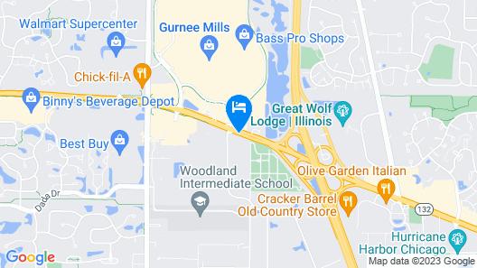 Holiday Inn Gurnee Convention Center Map