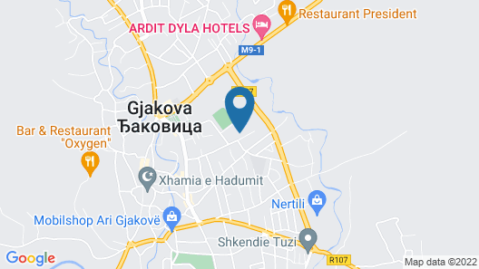 Ardit Dyla Hotels Map