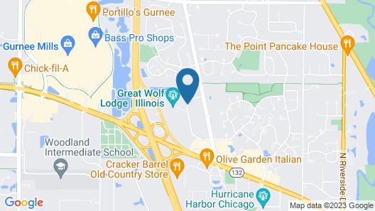 Great Wolf Lodge Illinois Map