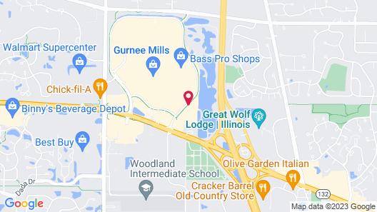 Comfort Inn Gurnee near Six Flags Map