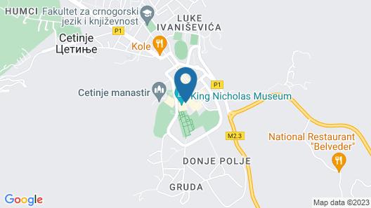 Hotel Gradska Cetinje Map