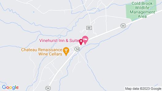 Vinehurst Inn And Suites Map